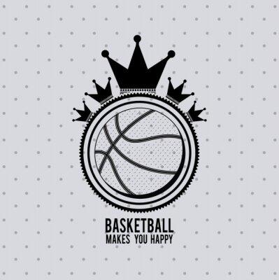 Vinilo Diseño de la liga de baloncesto