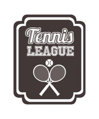 Vinilo Diseño de la liga de tenis