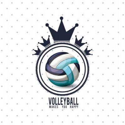 Vinilo Diseño de la liga de voleibol