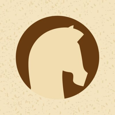 Vinilo Diseño de la silueta del caballo