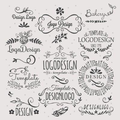 Vinilo Diseño de logotipo con elementos de boceto a mano