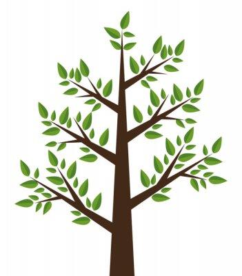 Vinilo Diseño de planta de árbol