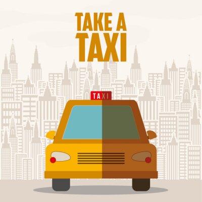 Vinilo Diseño de servicio de taxi