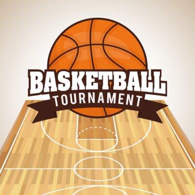 Vinilo Diseño del baloncesto