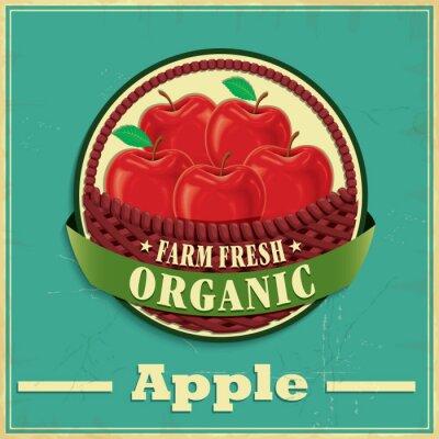 Vinilo Diseño del cartel de la manzana de la vendimia