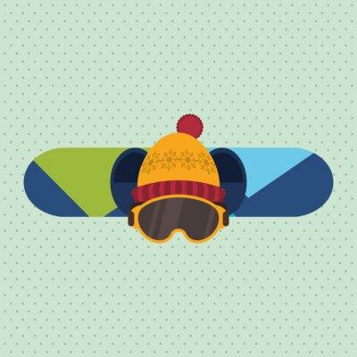 Vinilo Diseño del deporte de invierno