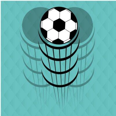 Vinilo Diseño del fútbol del fútbol