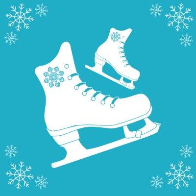 Vinilo Diseño del icono de patinaje