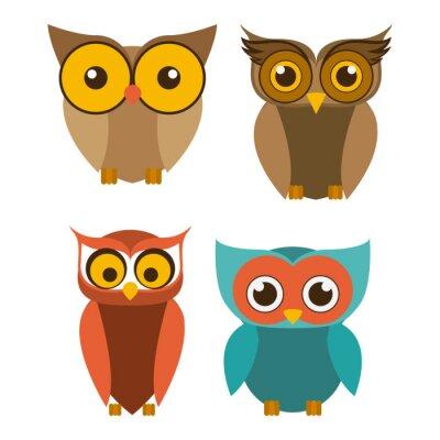Vinilo Diseño del pájaro, ilustración vectorial.