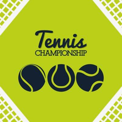 Vinilo Diseño deportivo de tenis
