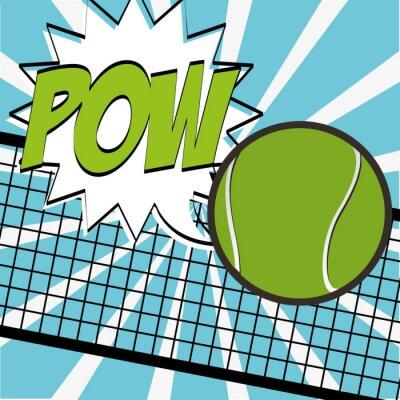 Vinilo Diseño deportivo tenis