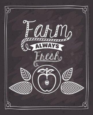 Vinilo Diseño fresco de los alimentos de la granja
