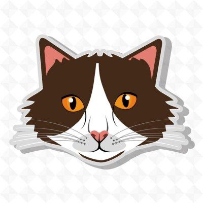 Vinilo Diseño lindo del gato