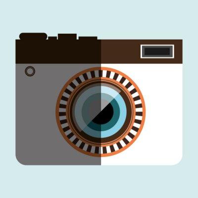 Vinilo Diseño retro de la cámara