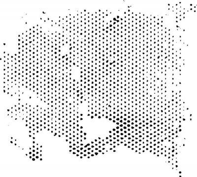 Vinilo Dissipación de la textura del patrón de semitonos degenerante. Textura del grunge de la textura del vector.