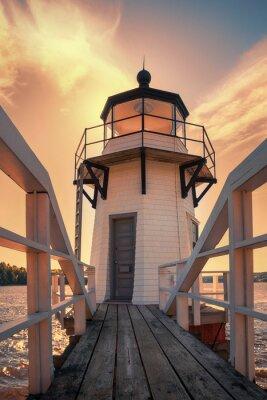 Vinilo Doblando el faro del punto en Maine, los EEUU