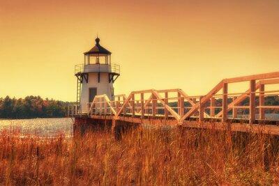 Vinilo Doblando el faro del punto en Nueva Inglaterra
