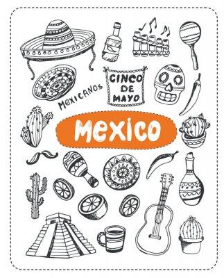 Vinilo Doodle sobre México.