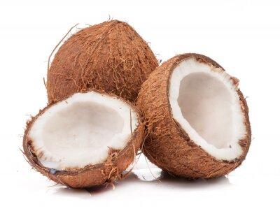 Vinilo Dos de coco uno al final del mes de división aislado