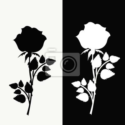 Dos Rosas Blanco Y Negro Vinilos Para Portátiles Vinilos Para La