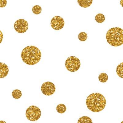 Vinilo Dots patrón transparente con textura dorada brillo.