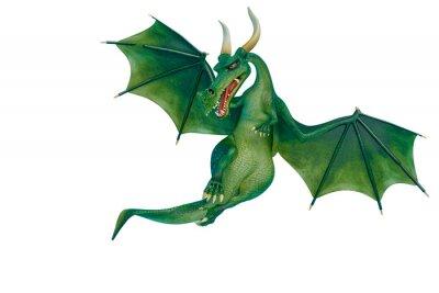 Vinilo dragon cartoon is watchingn