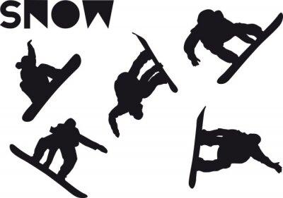Vinilo Druck Snowboarder conjunto de saltos