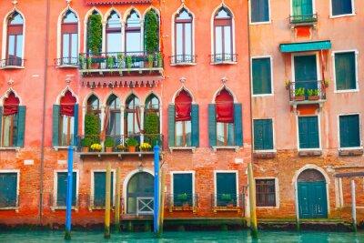 Vinilo Edificios de Venecia en el Gran Canal