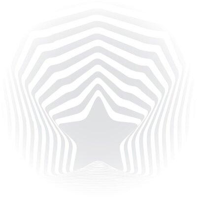 Vinilo Efecto visual del arte visual de la ilusión óptica de las rayas grises de la estrella.