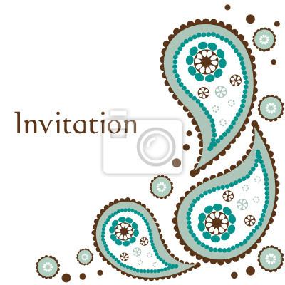 Ejemplo De La Tarjeta De Invitación De Boda De Vectores