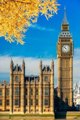 Vinilo El Big Ben y la Cámara del Parlamento, Londres, Reino Unido.