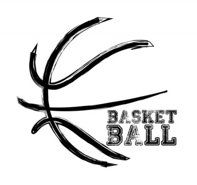 Vinilo el deporte de baloncesto