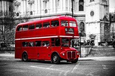 Vinilo El icónico autobús de dos pisos de Londres.
