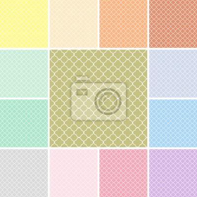 Vinilo El modelo de Quatrefoil establece con colores modernos