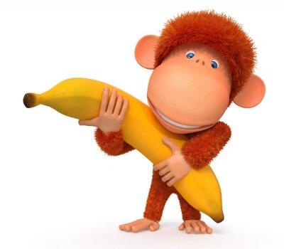 Vinilo El mono con plátano