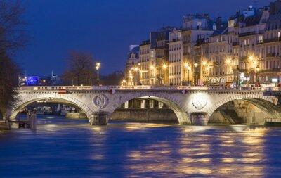 Vinilo El pont Saint Michel, París, Francia.