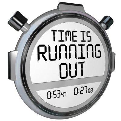 Vinilo El tiempo se está acabando el cronómetro reloj temporizador