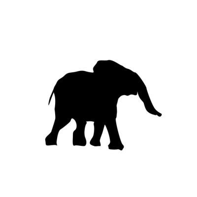 Vinilo Elefante bebé silueta