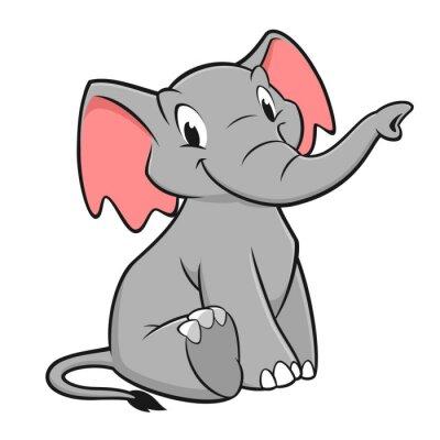 Vinilo Elefante de la historieta
