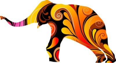 Vinilo Elefante decorativo