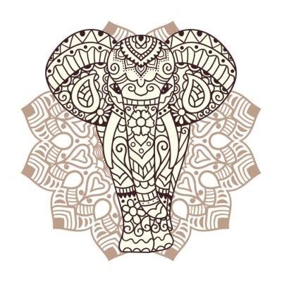 Vinilo Elefante decorativo ilustración
