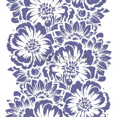 Vinilo Elegancia abstracta de patrones sin fisuras con fondo floral