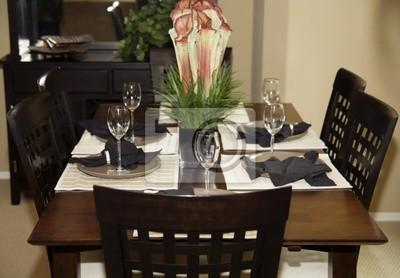 Elegante mesa de comedor de su casa vinilos para portátiles ...