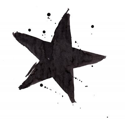 Vinilo Elemento de diseño. Estrella retra del grunge del vintage.