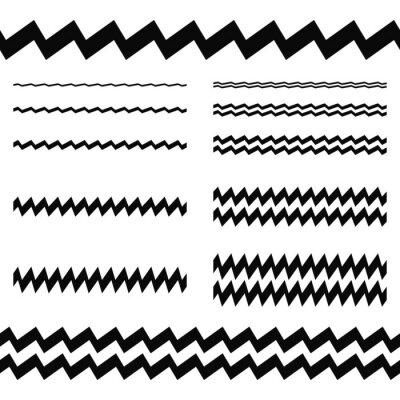 Vinilo Elementos de diseño gráfico - conjunto de líneas asimétricas