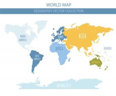 Vinilo Elementos del mapa del mundo. Construye tu propia colección gráfica de información geográfica