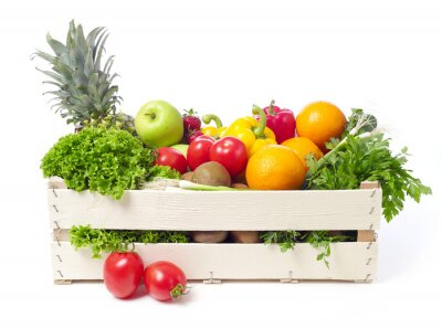 Vinilo Embalaje con las frutas y hortalizas