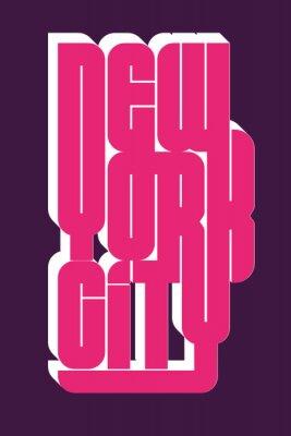 Vinilo Emblema de tipografía New York Sport wear, gráficos de sello de camiseta