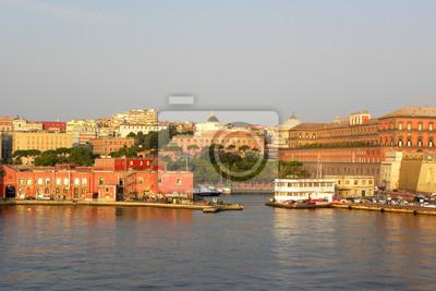Vinilo Entrada del puerto de Nápoles