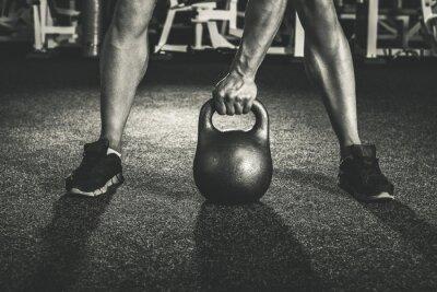 Vinilo entrenamiento con pesas rusas crossfit